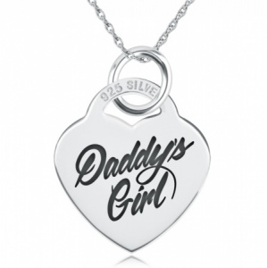Daddys Girl Necklace, Personalised, Sterling Silver, Heart Shaped