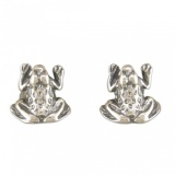 Frog Sterling Silver Stud Earrings