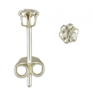 4mm Austrian Crystal and Sterling Silver Stud Earring