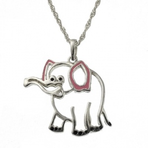 Children's Elephant Sterling Silver Necklace