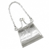 Small Hand Engraved Purse, 925 Sterling Silver