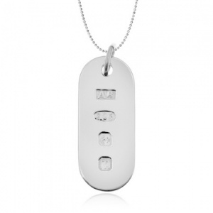 Feature Hallmark Sterling Silver Small Dog Tag (can be personalised)