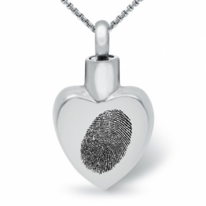 Any Fingerprint Ashes Locket Necklace, Personalised / Engraved, Stainless Steel