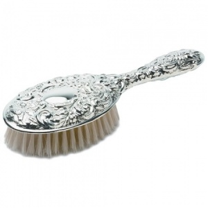 Victorian Style Ladies Hair Brush Hallmarked Sterling Silver (can be personalised)