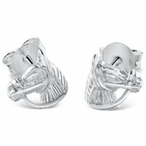 Horse's Head Stud Earrings - 925 Sterling Silver
