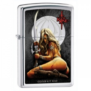Kit Rae Enithia Zippo Lighter, High Polish Chrome (28005)
