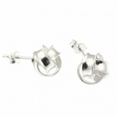 Knot Sterling Silver Stud Earrings