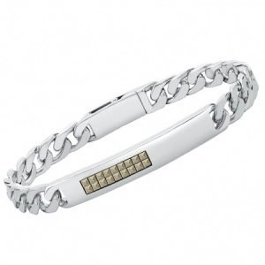 Mens Hoxton London, Mascasite ID Bracelet, Personalised, 925 Sterling Silver