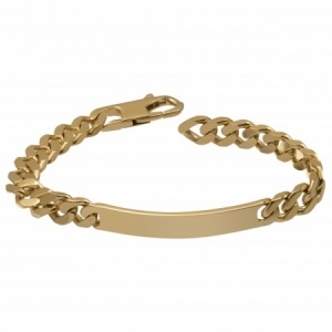 Mens Gold Plated ID Bracelet, Personalised / Engraved Identity