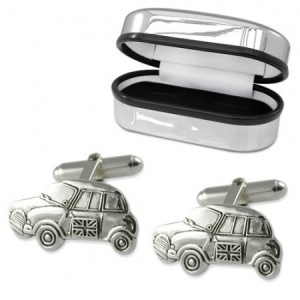 Mini Car Cufflinks Sterling Silver Plated (can be personalised)