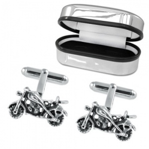 Motorbike Sterling Silver Cufflinks (can be personalised)