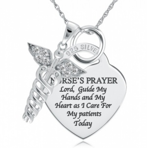 A Nurse's Prayer Sterling Silver Pendant/Necklace (can be personalised)