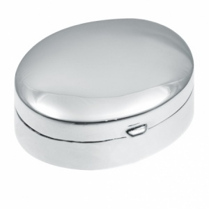 Oval Pill Box, 925 Sterling Silver, Hallmarked (can be personalised)