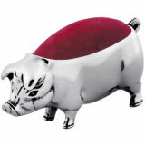 Pig Pin Cushion, 925 Sterling Silver, Hallmarked