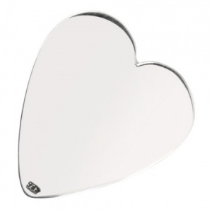 Heart Shaped Plectrum, Personalised, 925 Sterling Silver