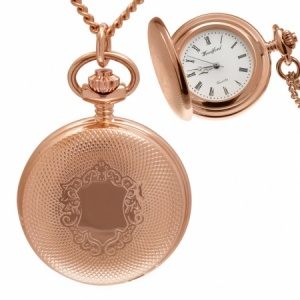 Vernier Pocket Watch Necklace, Personalised Rose Gold, Woodford