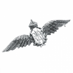 RAF Wings Sterling Silver Sweetheart Pin Badge/Brooch
