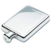 Rectangular 3oz Sterling Silver Hip Flask, Personalised, Hallmarked