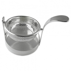 Revolving Tea Strainer Sterling Silver Plated