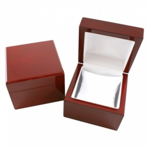 Glossy Rosewood Veneer Wooden Watch Pillow Box