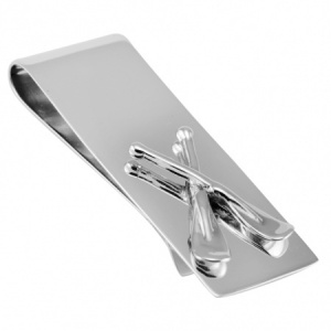 Rowing Oars Money Clip, 925 Sterling Silver, Can be Personalised