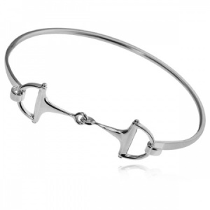 Snaffle Bangle, Hallmarked Sterling Silver