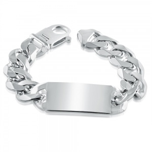 Super Heavyweight Mens ID Bracelet, Personalised, Sterling Silver