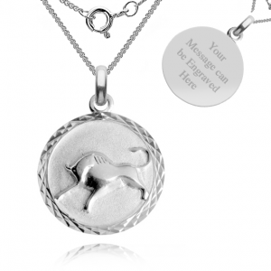 Taurus, Zodiac Necklace, Sterling Silver, Personalised