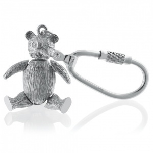 Teddy Bear, with Movable Arms & Legs Sterling Silver Keyring