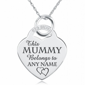 This Mummy Belongs To Necklace, Personalised, 925 Sterling Silver