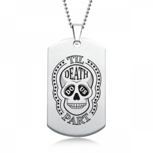 Til Death Do Us Part Dog Tag, Stainless Steel (Engraving Available)