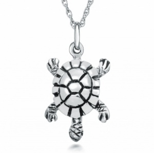 Turtle Necklace, Sterling Silver