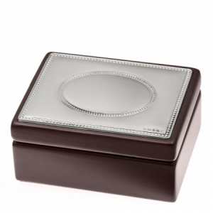 Jewellery/Trinket Box (Small), Wooden with Hallmarked Sterling Silver Lid (can be personalised)