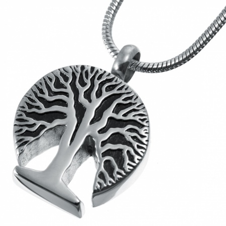 Tree of Life Ashes Memorial Locket Pendant, Personalised