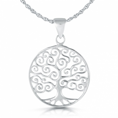 Tree of Life Necklace, Celtic Style, 925 Sterling Silver
