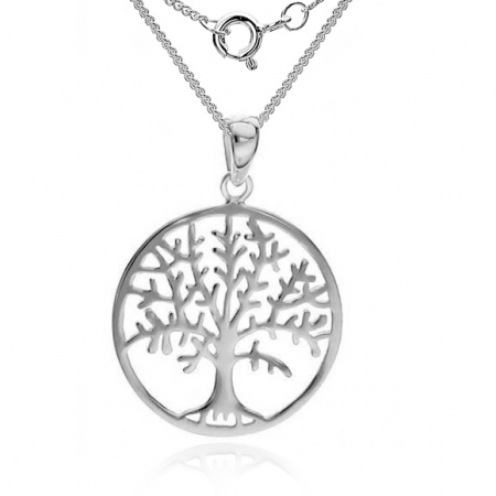 Tree of Life Necklace, 925 Sterling Silver