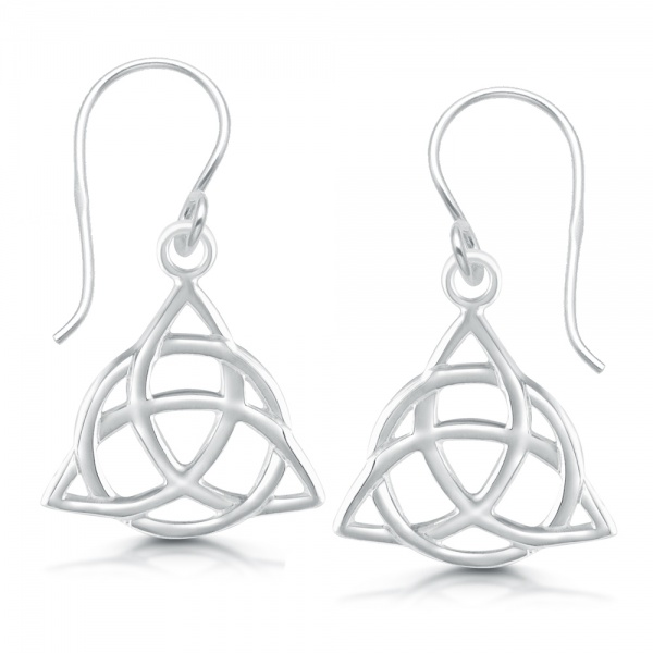 Triquetra (Trinity Knot) Earring, 925 Sterling Silver
