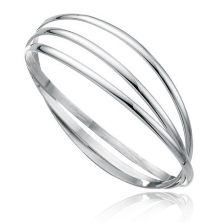 Triple Russian Wedding Bangle Sterling Silver