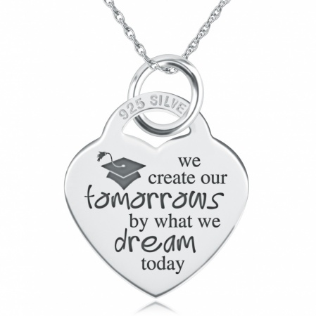 We Create Our Tomorrows, by What We Dream Today Necklace, Personalised