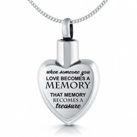 When Someone You Love Becomes a Memory Ashes Necklace, Personalised