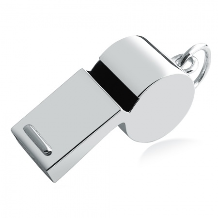 Carrs Sterling Silver Referee Whistle with Gift Box (can be personalised)