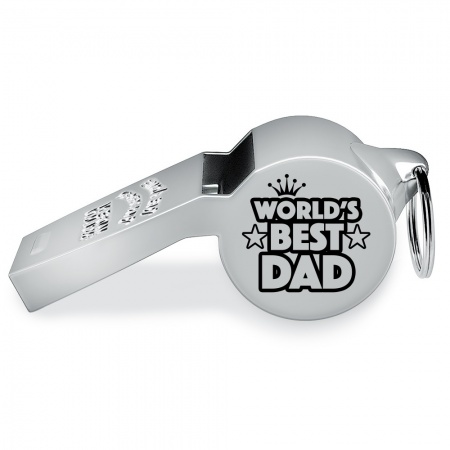 World's Best Dad, Daddy etc. Whistle, Personalised, Fathers Day