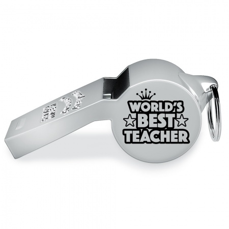 World's Best Teacher Whistle, Personalised, Acme Thunderer